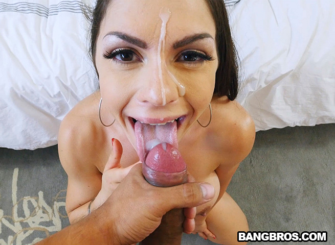 image Round ass latina takes doggystyle fuck facial