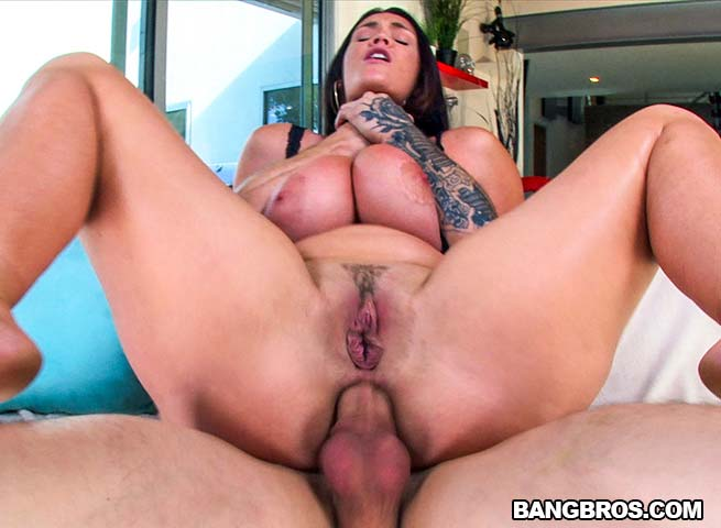 Busty babe gets deep anal!